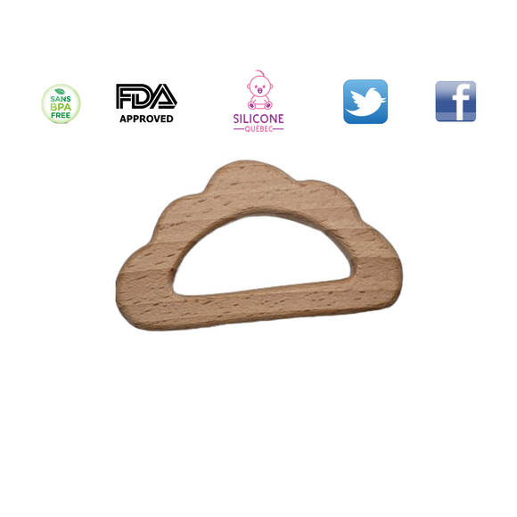 Cloud natural wooden toy