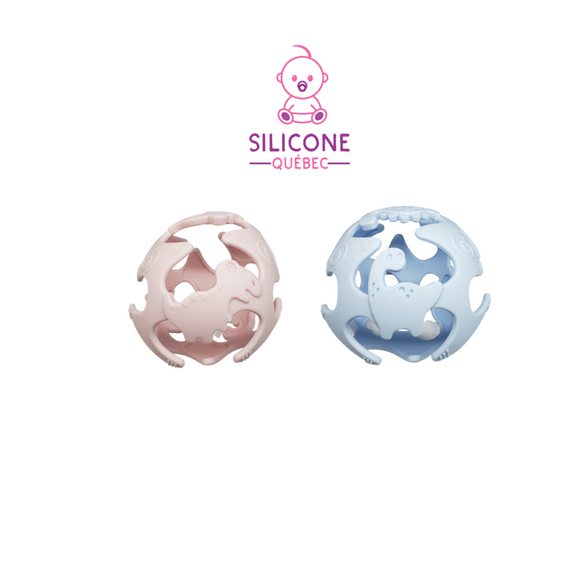 Flexible dinosaur silicone Sensory Ball