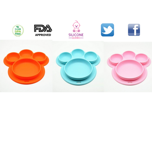 Dog Paw Silicone Suction plate