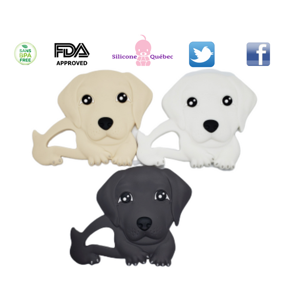 Dog silicone teething toy