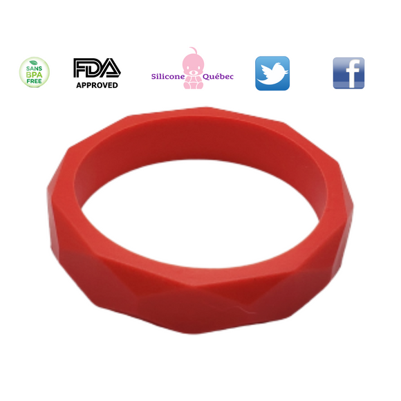 Faceted Silicone Bracelet For kids with special needs like ADHD,ASD, Autism