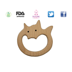 Fox natural wood toy