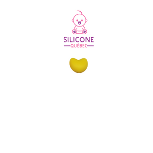 Perle silicone forme coeur 20mm