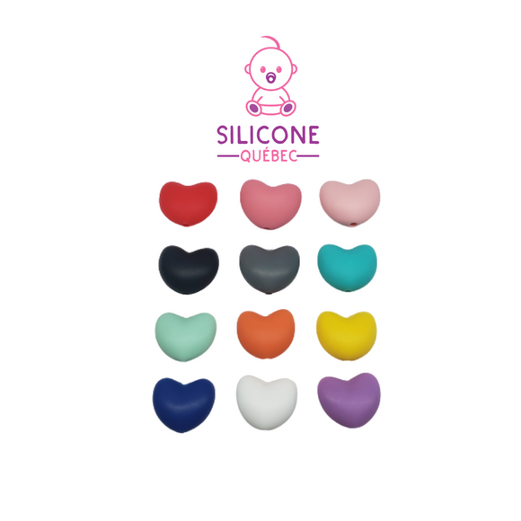 Heart shape silicone bead 20mm