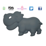 Hippopotamus silicone teething toy for babie's