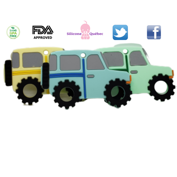 Jeep SUV silicone teething toy