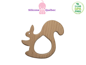 Large squirel Natural wooden teether