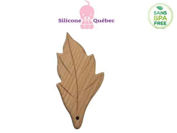 Leaf Natural wooden teether