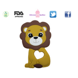 Lion silicone teething toy
