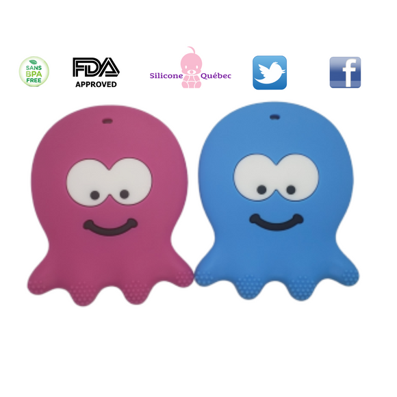 Octpus silicone teething toy