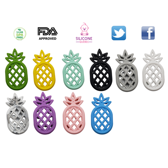 Pineapple silicone teething toy