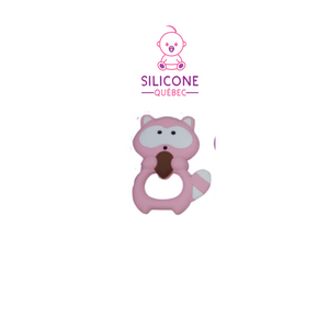 Racoon silicone teething toy