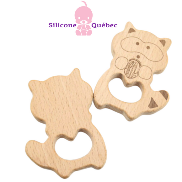 Racoon Natural wooden teether