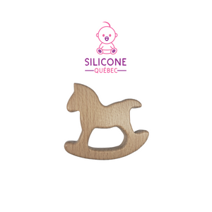 Rocking Horse teether / natural maple wood
