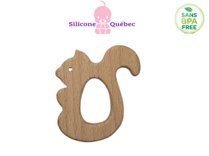 Small squirel Natural wooden teether
