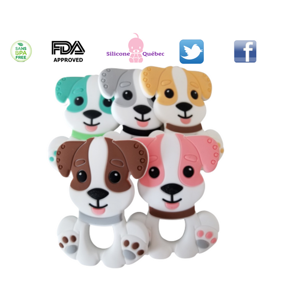 Dog cartoon silicone teething toy