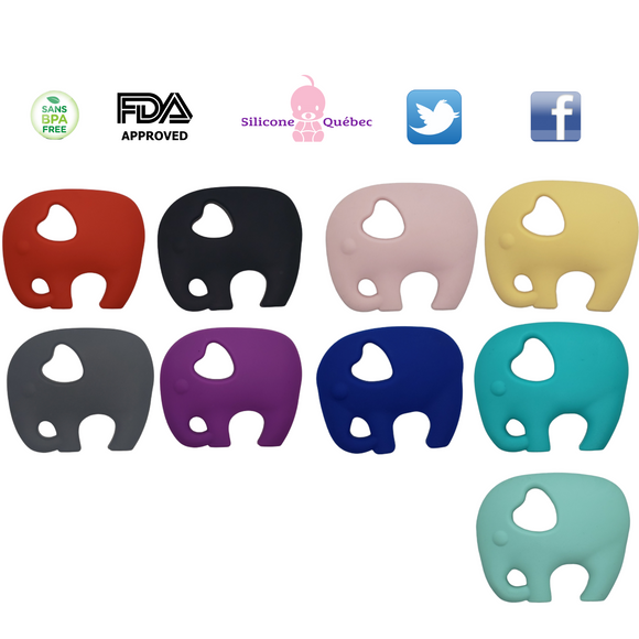 Silicone Elephant Teether | BPA Free Full Body Teething Toy
