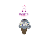 3 scoops ice cream cone