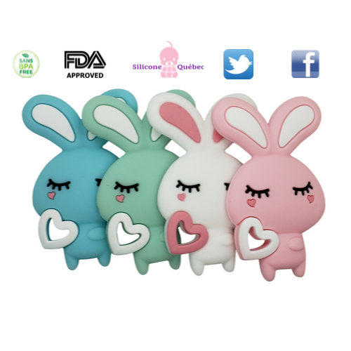 Cartoon Rabbit silicone teething toy