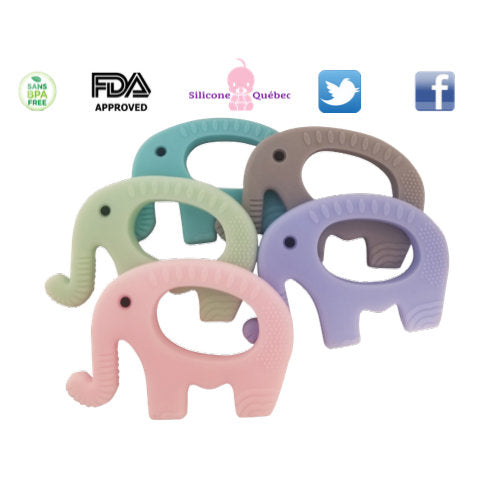 Elephant silicone teething toy