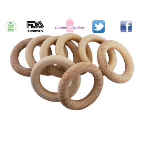 natural wooden ring 56mm