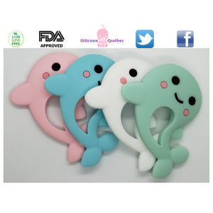 Dolphin cartoon silicone teething toy