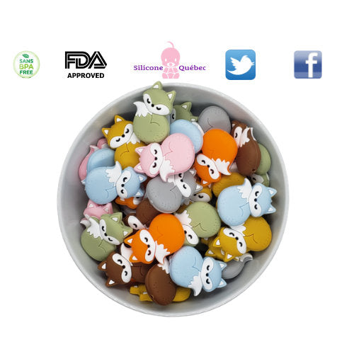 Full Body Silicone Fox Beads
