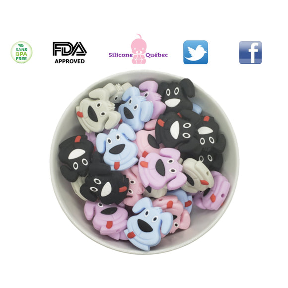 Dog silicone teething beads