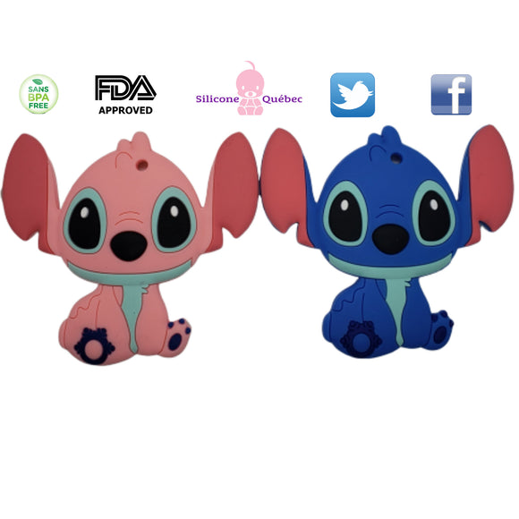 stitch teething toy