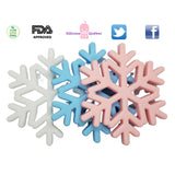 Snowflake thick silicone teething toy