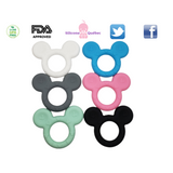 Mouse ears silicone teether