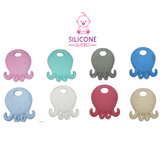 Octopus with flower silicone teether