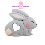 rabbit silicone teething toy-baby teether