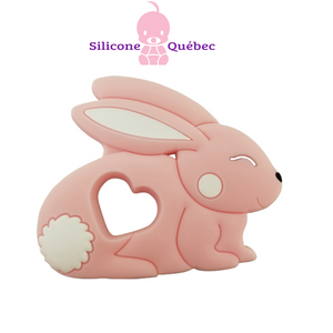 Rabbit silicone teething toy