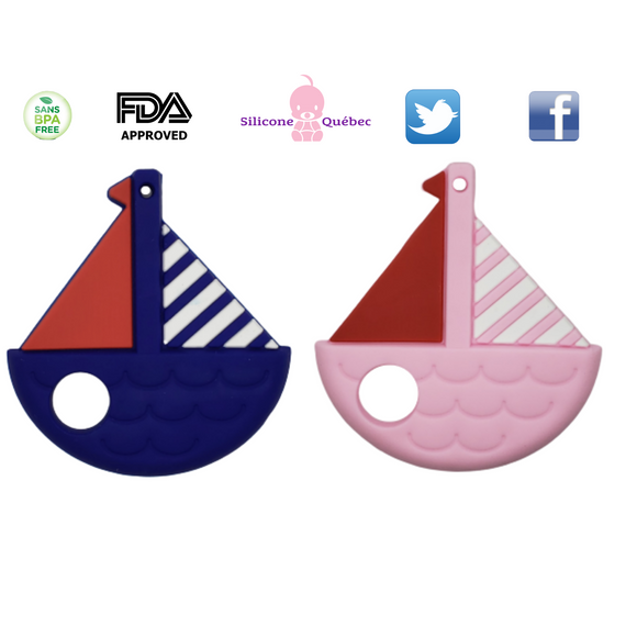 Sailboat silicone teething toy