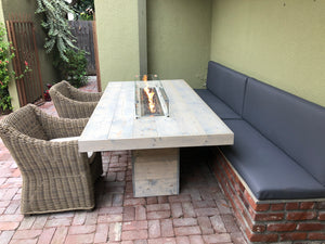"Long Beach Dinner Table 90""x45""x29.5"" with built in Firepit"