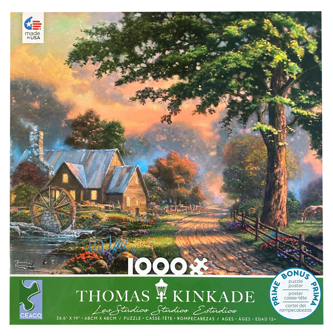Thomas Kinkade - Simpler Times II 1000 Piece Jigsaw Puzzle - Roll2Learn