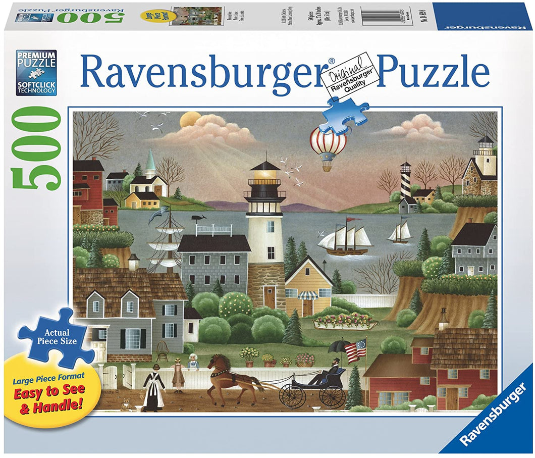 Ravensburger Beacons Cove Large Format 500 Piece Jigsaw Puzzle - Roll2Learn