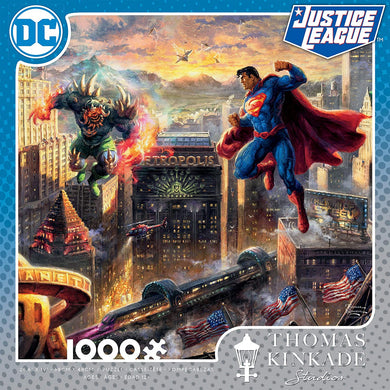 Thomas Kinkade DC Collection - Superman Man of Steel Jigsaw Puzzle, 1000 Pieces - Roll2Learn