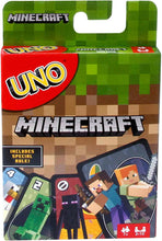 Load image into Gallery viewer, UNO Minecraft Card Game - Roll2Learn