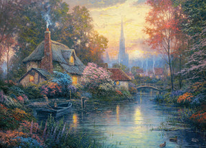 Thomas Kinkade - Nanette's Cottage Jigsaw Puzzle, 1000 Pieces - Roll2Learn
