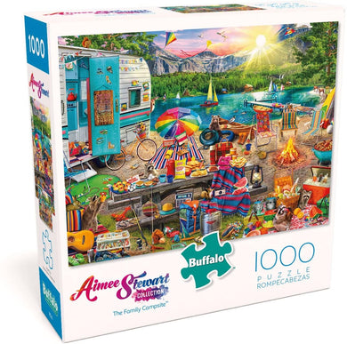 Aimee Stewart - The Family Campsite - 1000 Piece Jigsaw Puzzle - Roll2Learn