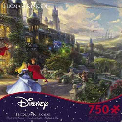 Thomas Kinkade Disney Collection - Sleeping Beauty Enchanting Jigsaw Puzzle, 750 Pieces - Roll2Learn