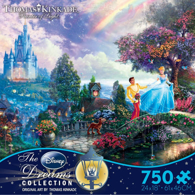 Thomas Kinkade The Disney Dreams Collection - Cinderella Wishes Upon a Dream Puzzle, 750 pc - Roll2Learn