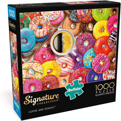 Aimee Stewart - Coffee and Donuts - 1000 Piece Jigsaw Puzzle - Roll2Learn