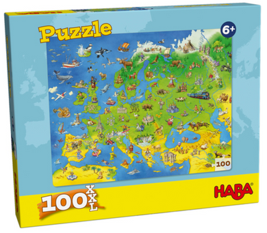 Puzzle - Europe Map 100 Pieces - Roll2Learn