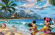 Load image into Gallery viewer, Thomas Kinkade The Disney Collection 4 in 1 Multipack Snow White, Mickey & Minnie Mouse, Pocahontas Jigsaw Puzzles, (4) 500 Pieces - Roll2Learn
