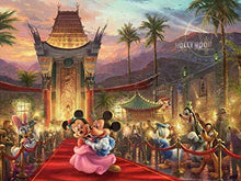 Load image into Gallery viewer, Thomas Kinkade The Disney Collection Mickey and Minnie Hollywood Jigsaw Puzzle, 750 Pieces - Roll2Learn