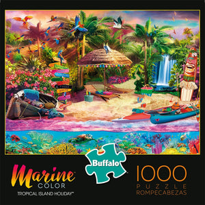 Tropical Island Holiday - 1000 Piece Jigsaw Puzzle - Roll2Learn