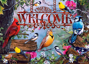 Audubon - Perched 1000-Piece Linen Jigsaw Puzzle - Roll2Learn